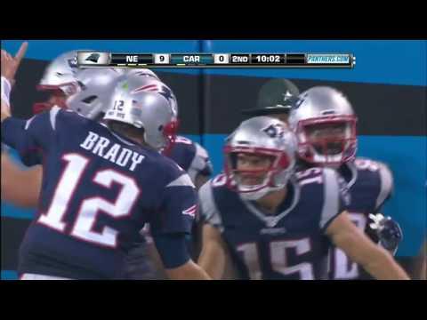 Tom Brady Launches TD Pass to Chris Hogan!   Patriots vs  Panthers   NFL