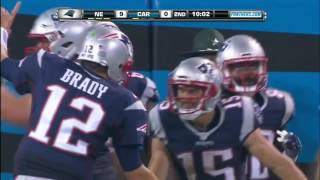 Tom brady launches td pass to chris hogan!   patriots vs  panthers   nfl