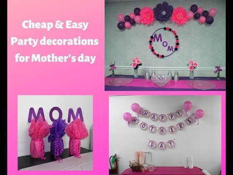 Cheap & Quick DIY For Mother's Day  / How To Decorate For Mother's Day / DIY Mother's Day Ideas