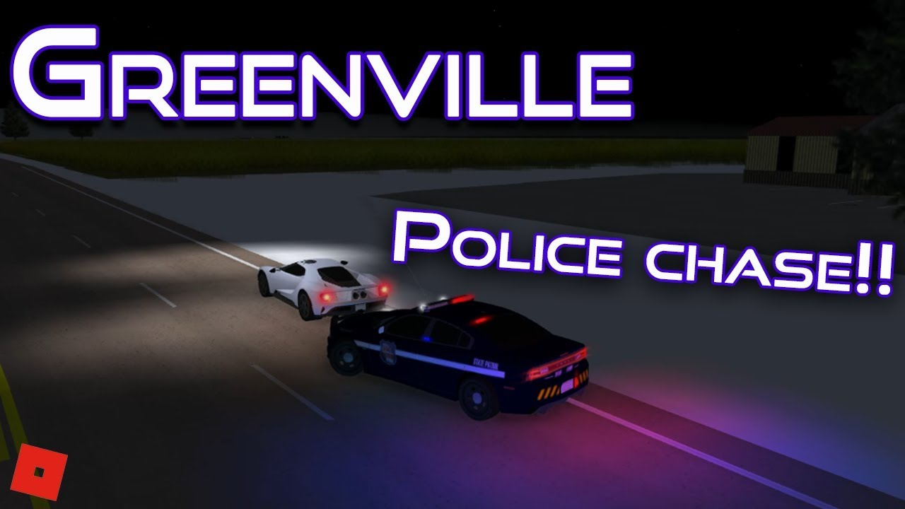 FORD GT POLICE CHASE!! || ROBLOX - Greenville Beta