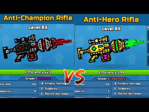 Anti Champion VS Anti Hero Rifle Damage Test - Pixel Gun 3D