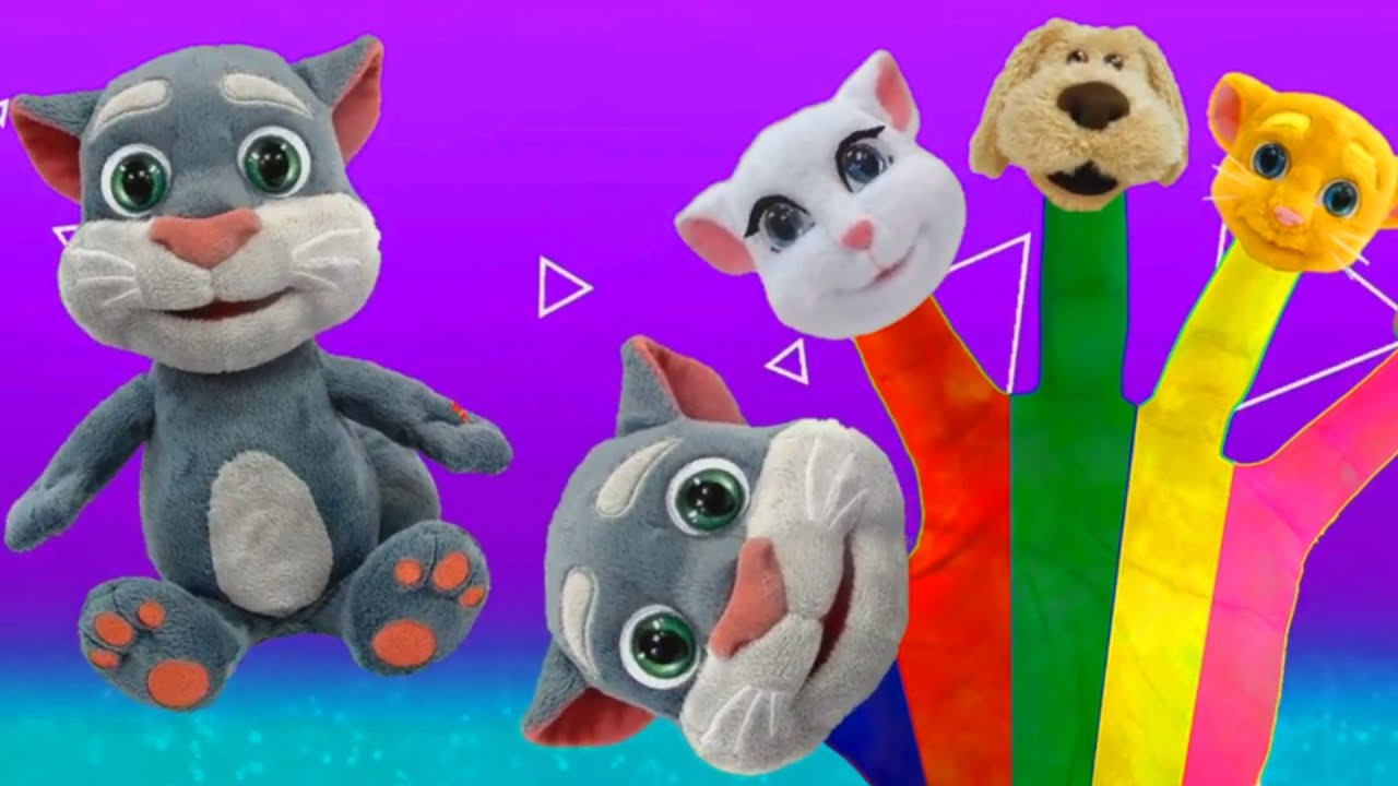 Finger Family Song | Talking Tom and Talking Friends