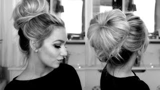 classy donut bun hair tutorial