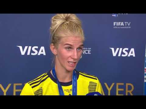 Sofia Jakobsson – Player of the Match – England v Sweden