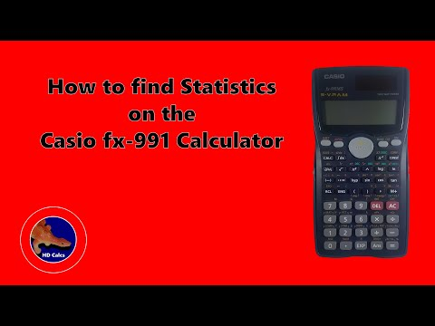 How To Find Statistics On The Casio Fx-991MS Calculator