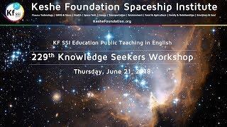 229th Knowledge Seekers Workshop - Thursday, June 21, 2018