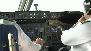 HD, Cockpit Flying PIA Pakistan International,Flight Deck of Boeing 747-300 (Karachi ✈ Lahore)