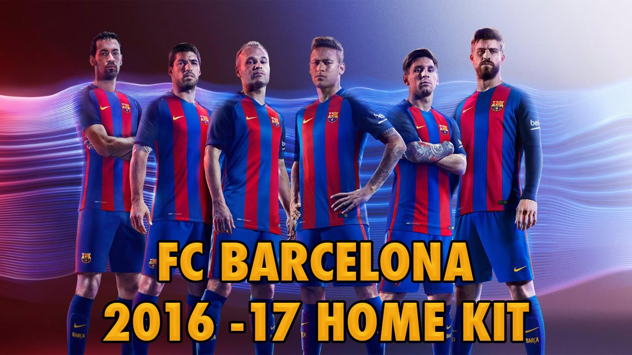 FC Barcelona 2016-2017 Home Kit (Official) - YouTube 0c2070546
