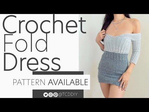 Crochet Fold Dress | Pattern \u0026 Tutorial DIY