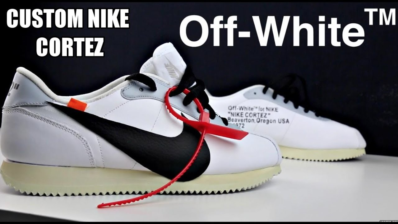 purchase cheap f4b05 b53af CUSTOM OFF WHITE X NIKE CORTEZ !!!