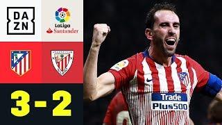 Abwehrhüne Diego Godin trifft zum Last-Minute-Sieg : Atletico Madrid - Bilbao 3:2 | LaLiga | DAZN