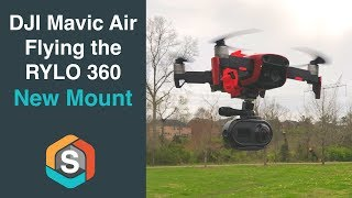 DJI Mavic Air carrying the RYLO 360 Camera