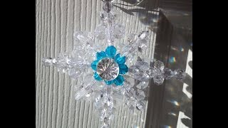 Make A Beautiful and Easy Beaded Star of Bethlehem Ornament!