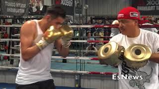 Ramirez Killing Mitts With Robert Garcia Ahead Of July 7 Main Event EsNews Boxing
