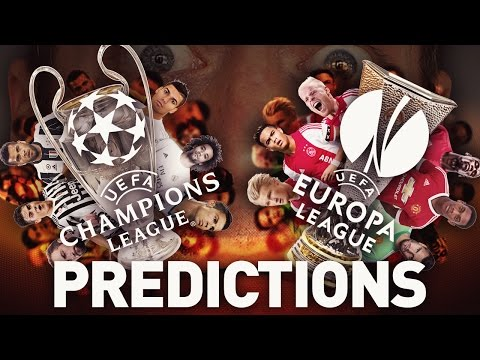 My champions league + europa league final predictions!