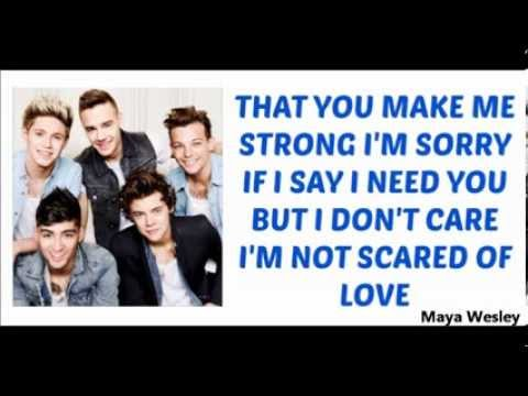 One Direction - Strong (Lyrics and Pictures) (Album Midnight Memories)