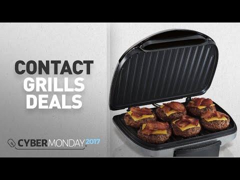 Top Cyber Monday Contact Grills Deals: Hamilton Beach 25371 Indoor Grill, Silver