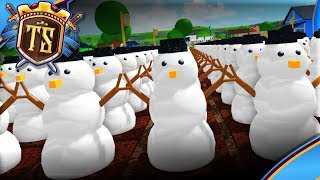 PLANNING AN ARMY OF SNOWMEN! -Ep 4-Welcome to Farmtown Beta | Danish Roblox