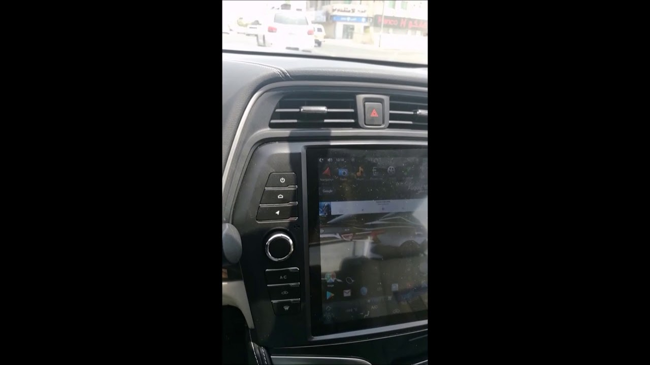 Nissan Maxima with OEM BOSE sound system has Tesla-style Android head unit  installed