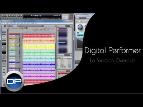 La fonction Overdub dans Digital Performer 8 et 9 (français)