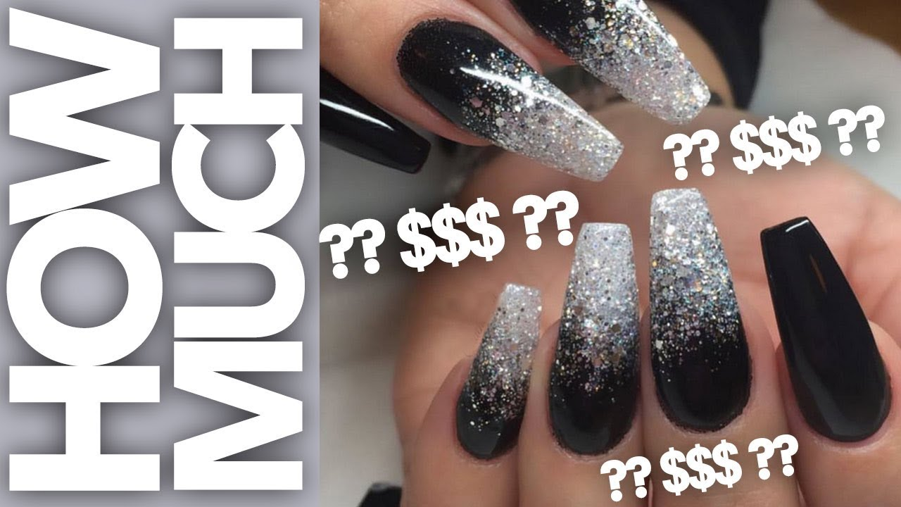 Acrylic Fill And Gel Polish Glitter Ombre Youtube