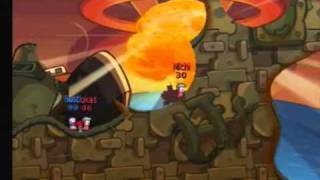 Worms Battle Island- Gameplay