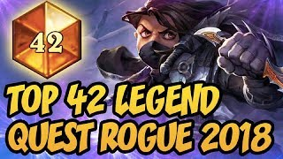 TOP 45 LEGEND | Quest Rogue 2018 | The Witchwood | Hearthstone