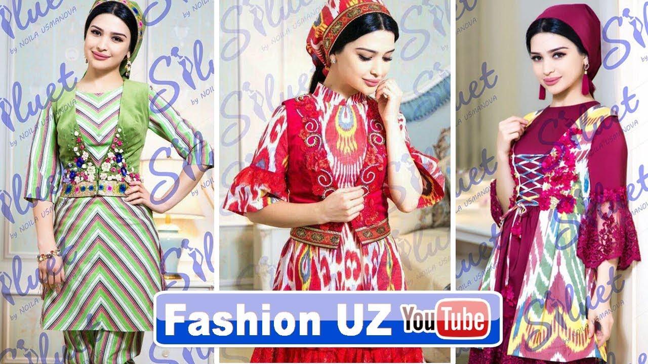 Milliy va Zamonaviy liboslar modasi va fasonlar Fashion UZ 30 qism 2017 2018