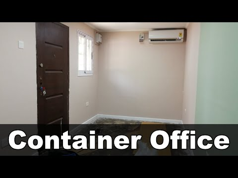 How i built my container office here in Ghana from start to finish
