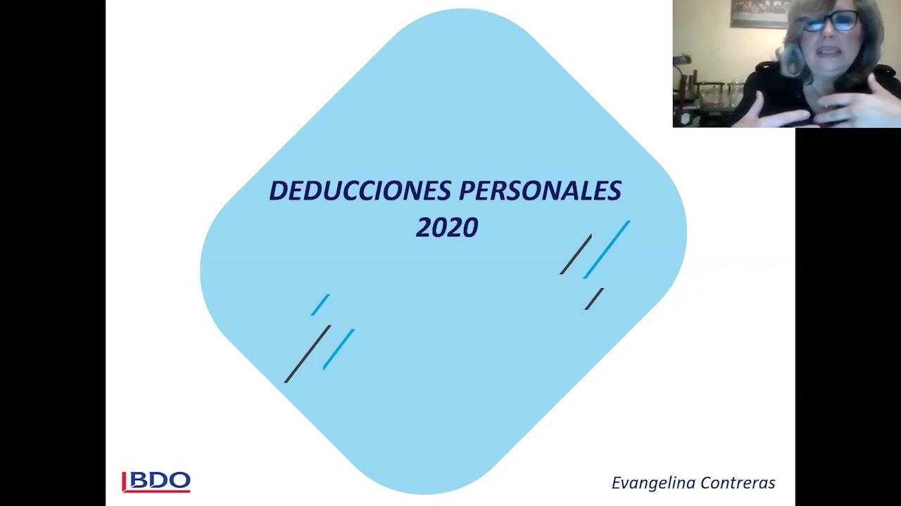 Deducciones Personales 2020