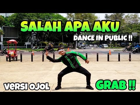 SALAH APA AKU Dance In Public By Addin | Choreography By Addin Firmansyah (Versi Ojol GRAB)