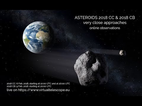 """Near-Earth Asteroid 2018 CC very close encounter"" – 6 Feb. 2018, at 10:00 UT"