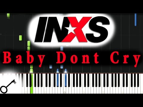 INXS - Baby Dont Cry [Piano Tutorial] Synthesia | passkeypiano mp3