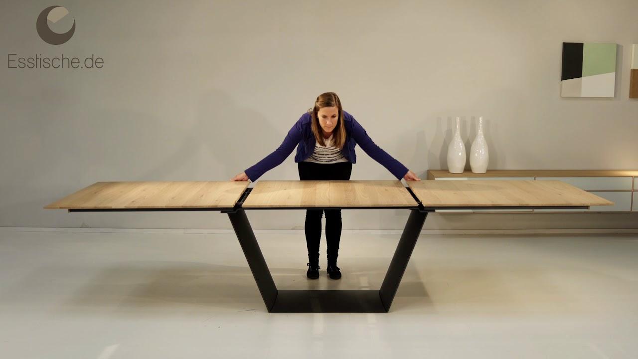 Einzigartig Esstisch Holz Metall Galerie Von Ausziehbar - Kampen 4