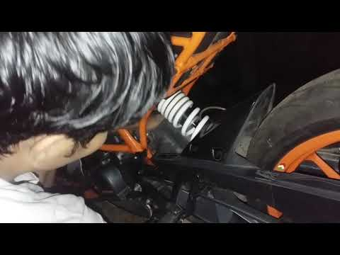 Ktm Rc 200 silencer removal &Sc project crt installation