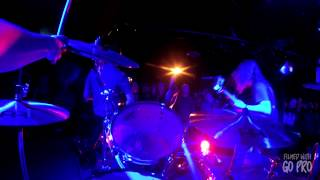 "Mutoid Man - ""1000 Mile Stare"" Live Ben Koller drum cam Kollercam GoPro"