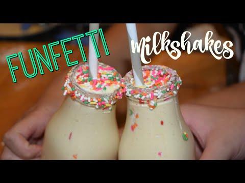 How To Make Birthday Cake Funfetti Milkshakes
