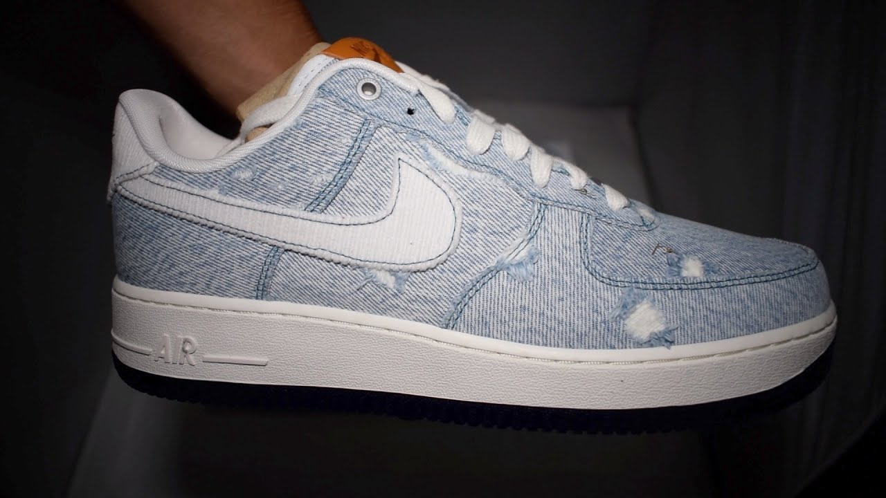 Levis x Nike Air Force 1 ID Unboxing