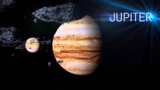 Solar System HD Animation   (Planet Fly-By)