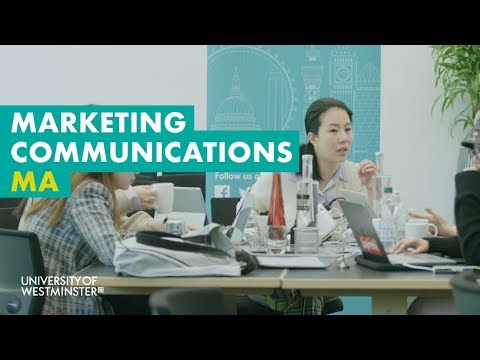 Marketing Communications MA - University Of Westminster