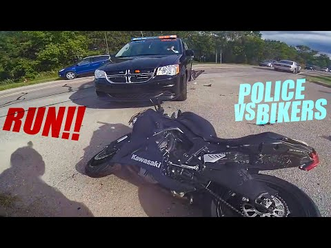 Police VS Bikers! Cops Chases Motorcycle - Best Compilation 2020