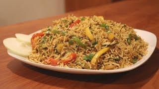 Capsicum Masala Rice   Capsicum Rice   Easy Tiffin Recipe   Leftover Rice Recipe