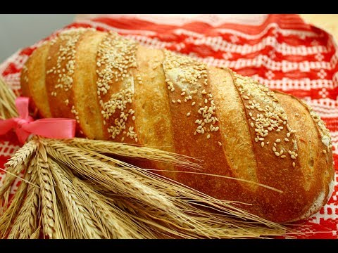 БАТОН МОЛОЧНЫЙ НА ЗАКВАСКЕ / Самый точный и проверенный рецепт/ Домашний бездрожжевой хлеб в духовке