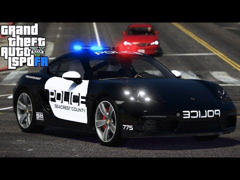 GTA 5 LSPDRF #217 POLICIA de USA en PORCHE CAYMAN 713 EdgarFtw thumbnail