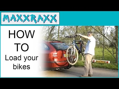 Maxxraxx Bike Carrier Tow Bar Mounted How To Load Your Bikes