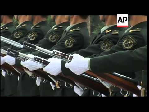 +4:3 Rare chance to see honour guard for Peoples' Liberation Army