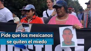 Reanudan Caminata por la Paz; piden a paisanos manifestarse