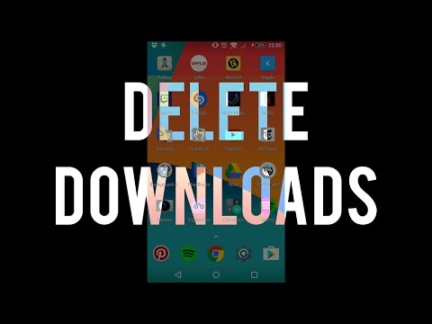 Delete your downloads from Android