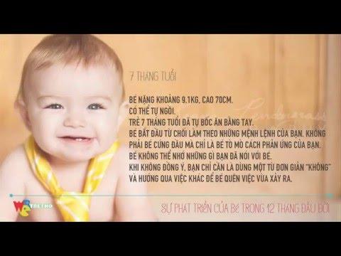 Chuẩn cân nặng, chiều cao và sự phát triển của trẻ trong 12 tháng đầu đời