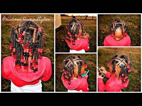 Little Girls Hairstyle Beads Braids & Twists